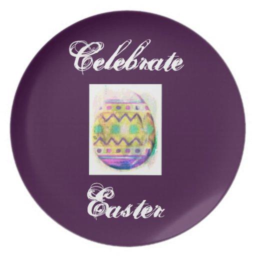 Pastel Easter Egg Decorative Plate