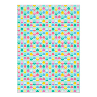 Pastel Easter Eggs Two-Toned Multi on Mint Card
