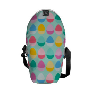 Pastel Easter Eggs Two-Toned Multi on Mint Commuter Bag