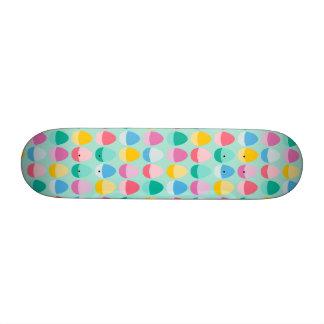 Pastel Easter Eggs Two-Toned Multi on Mint Custom Skateboard