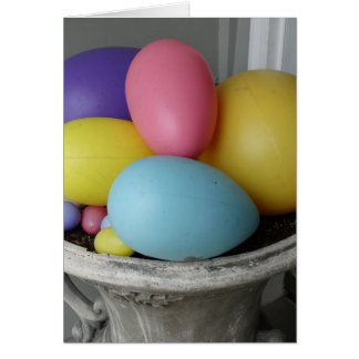 Pastel Eggs, Happy Easter Card
