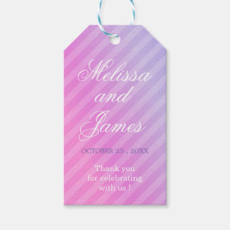 Pastel Elegant Pink Lilac Thank You Gift tags