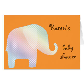 pastel elephant greeting card