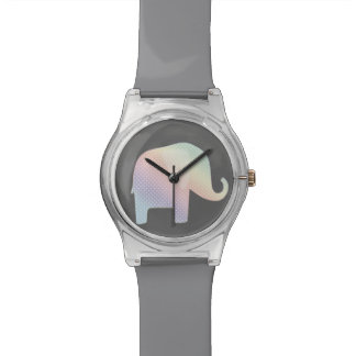 pastel elephant wristwatch