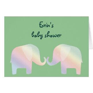 pastel elephants greeting card