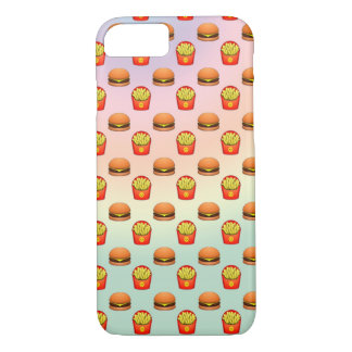Pastel Emoji Burger and Fries iPhone 7 Case