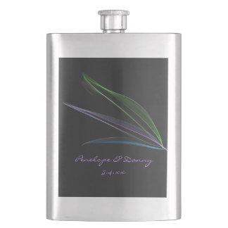 Pastel Feathers Abstract Custom Flasks