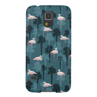 Pastel Flamingos On Teal Galaxy S5 Case