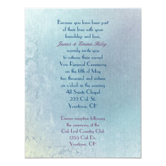 Pastel  Floral Abstract Vow Renewal 11 Cm X 14 Cm Invitation Card