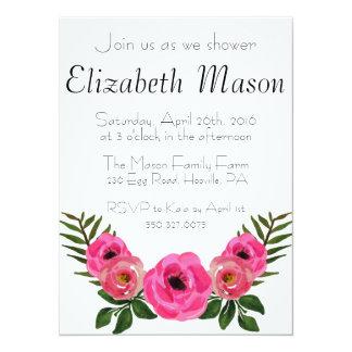 Pastel Floral Baby Shower 14 Cm X 19 Cm Invitation Card