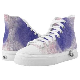 Pastel Floral Dream Hi Top Printed Shoes