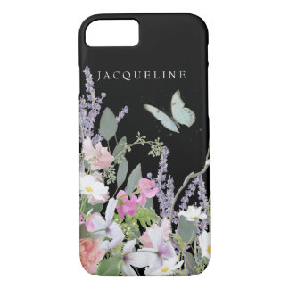 Pastel Floral Lavender Wild Flower Garden Painted iPhone 7 Case