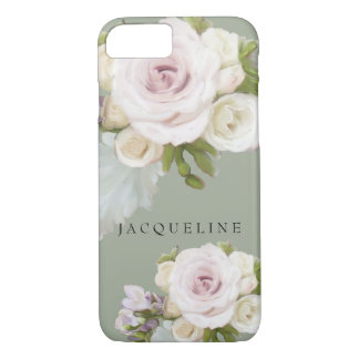 Pastel Floral Roses Freesia Flowers Hand Painted iPhone 7 Case