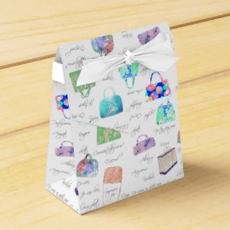 Pastel Floral Watercolor Illustrations Typography Favour Box
