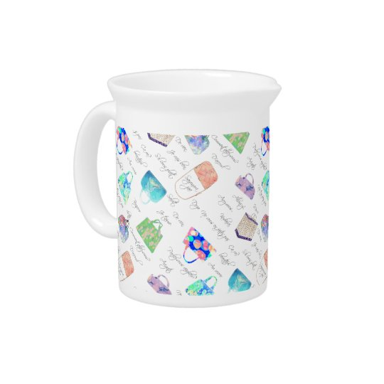 Pastel Floral Watercolor Illustrations Typography Pitcher