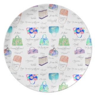 Pastel Floral Watercolor Illustrations Typography Plate