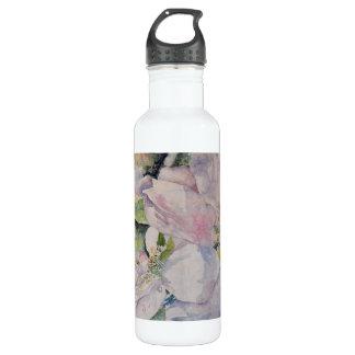 Pastel FloralWatercolor Art Water Bottle