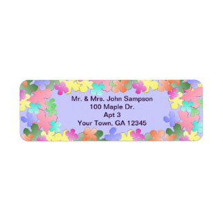 Pastel Flower Collage Custom Return Address Label