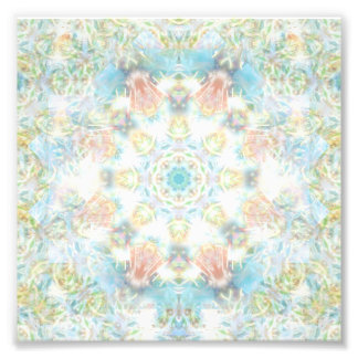 Pastel Flower Mandala Photo Print