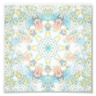 Pastel Flower Mandala Photo Print
