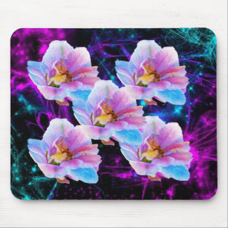 Pastel Flowers and stars Mousepad