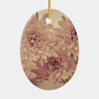 Pastel Flowers Ceramic Oval Decoration