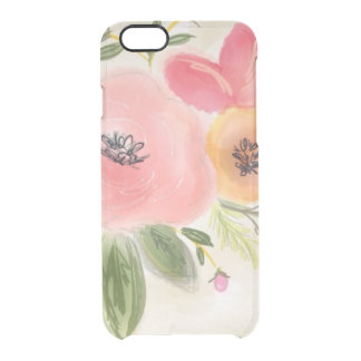 Pastel Flowers Clear iPhone 6/6S Case