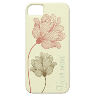 Pastel flowers customizable iPhone 5 cover