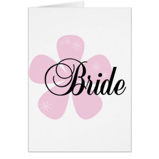 Pastel Flowers Pink Bride Tshirts and Gifts Cards