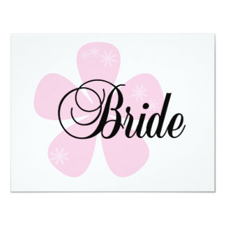 Pastel Flowers Pink Bride Tshirts and Gifts Invitation