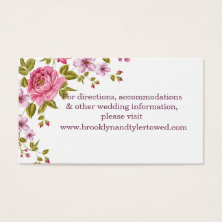 Pastel Flowers Wedding Website Card