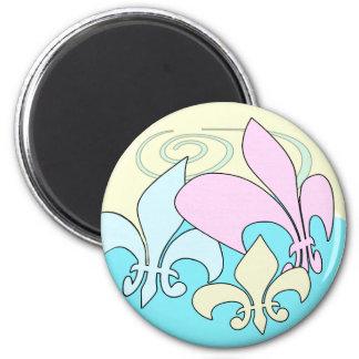 Pastel Fun Fleur de Lis Magnets