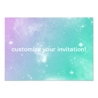 Pastel Galaxy Invitation for any event!