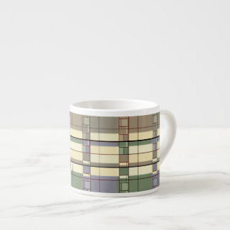 Pastel Geometric Abstraction Art Espresso Cup