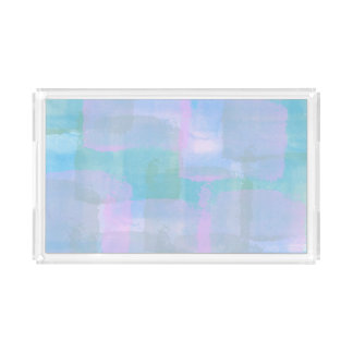 Pastel Geometric LInes Abstract Art Acrylic Tray