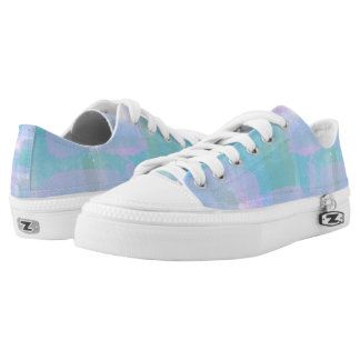 Pastel Geometric Lines Abstract Art Low Top Shoes
