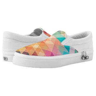 Pastel Geometry Slip-On Shoes