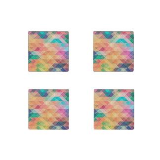 Pastel Geometry Stone Magnet