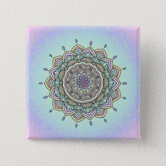 Pastel Glow Mandala ID359 15 Cm Square Badge