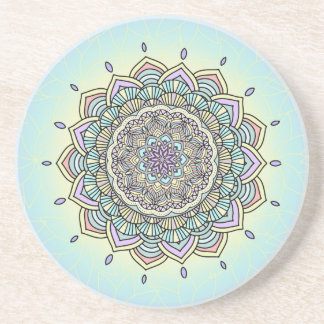 Pastel Glow Mandala ID359 Coaster