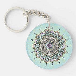 Pastel Glow Mandala ID359 Double-Sided Round Acrylic Key Ring