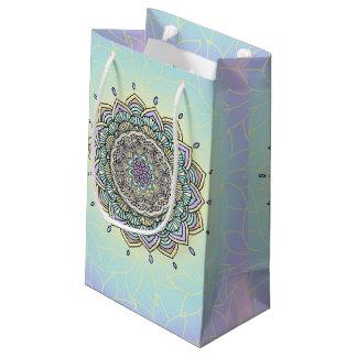Pastel Glow Mandala ID359 Small Gift Bag
