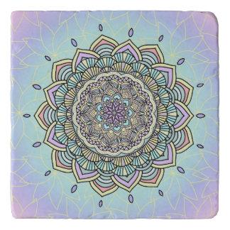 Pastel Glow Mandala ID359 Trivet