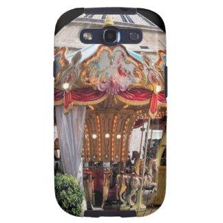 Pastel & Gold Floral Italian Carousel Pentagon Samsung Galaxy S3 Case