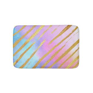 Pastel Gold Tiger Stripes Bath Mat