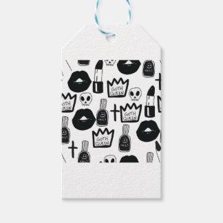 pastel goth, queen, horror, terror, gothic, femini gift tags