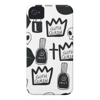 pastel goth, queen, horror, terror, gothic, femini iPhone 4 cover