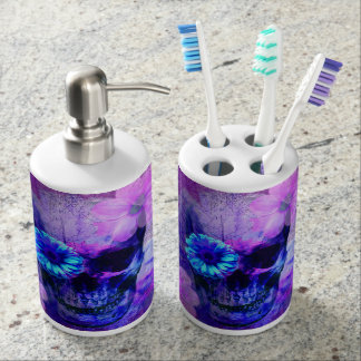 Pastel Goth Skull Home Decor Bathroom Set