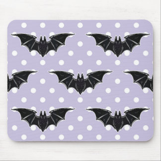 Pastel Goth Spooky Cute Purple Bat Kawaii Mousepad