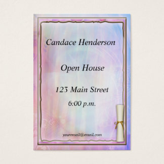 Pastel Graduation Hand-out Business Card